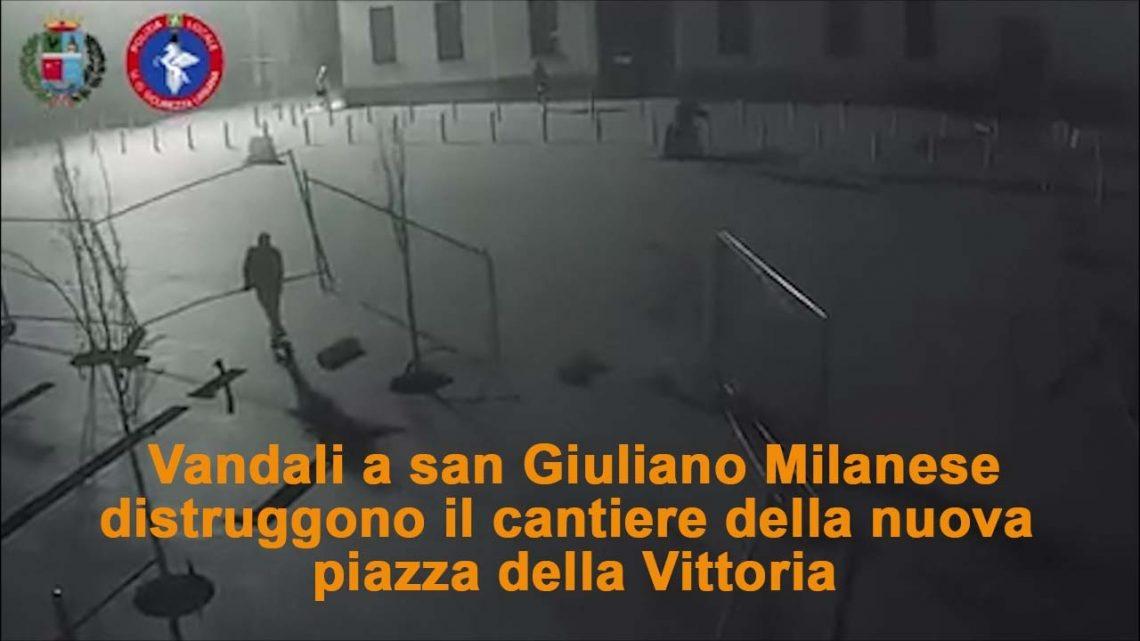 San Giuliano, ragazzi saccheggiano un cantiere