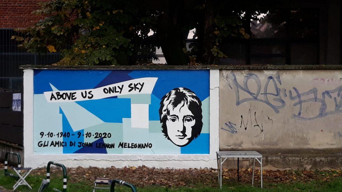Un murale per Gino Strada a Melegnano